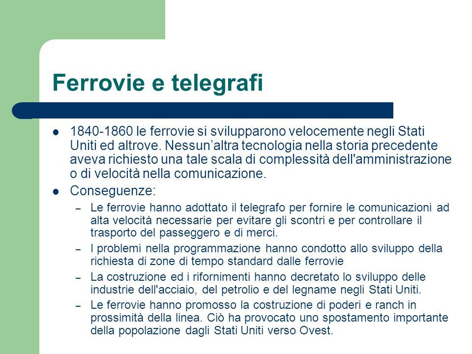 Ferrovie e telegrafi