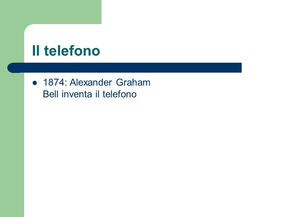 Il telefono 1874: Alexander Graham Bell inventa il telefono