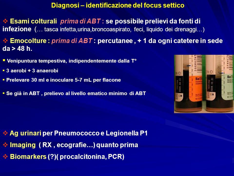 Diagnosi – identificazione del focus settico