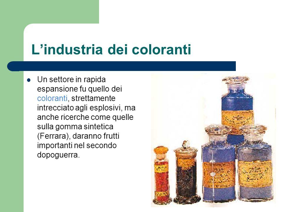 L'industria dei coloranti