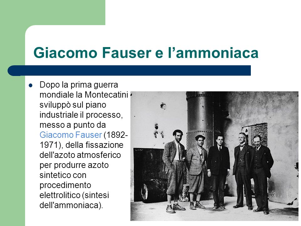 Giacomo Fauser e l'ammoniaca