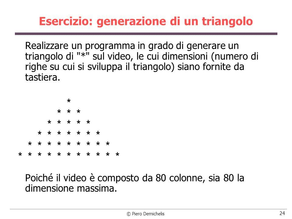 Esercizio: generazione di un triangolo