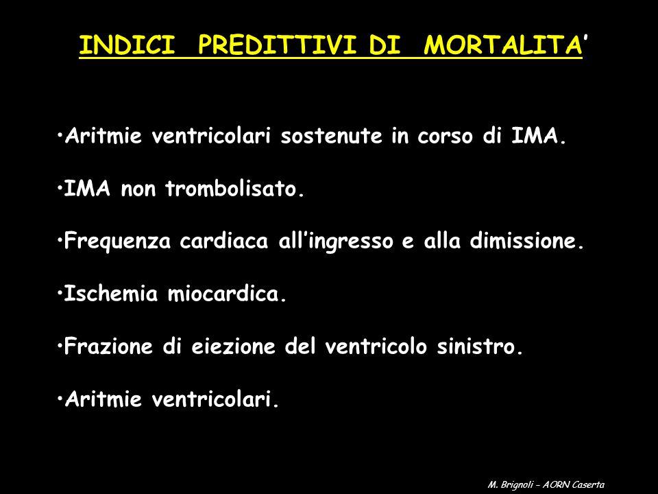 INDICI PREDITTIVI DI MORTALITA'