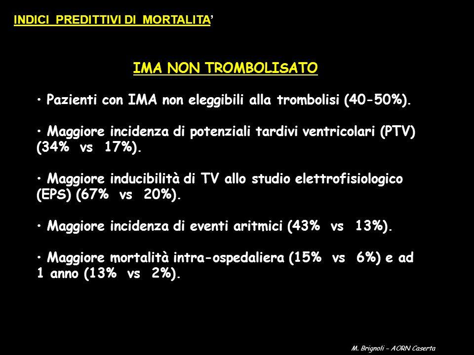 Pazienti con IMA non eleggibili alla trombolisi (40-50%).