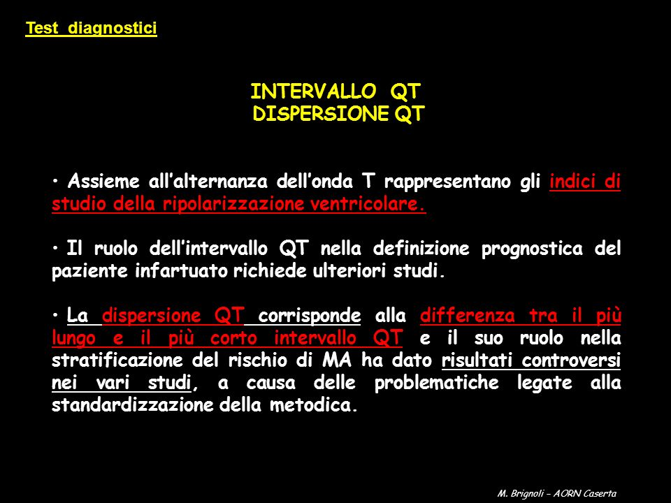 INTERVALLO QT DISPERSIONE QT