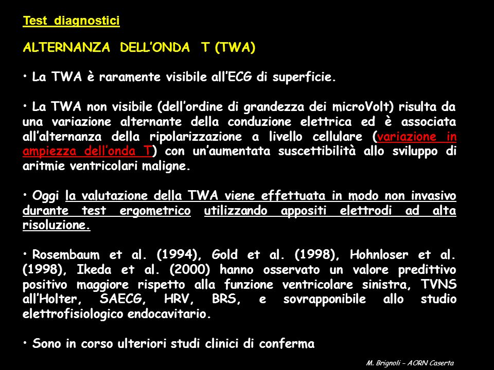 ALTERNANZA DELL'ONDA T (TWA)