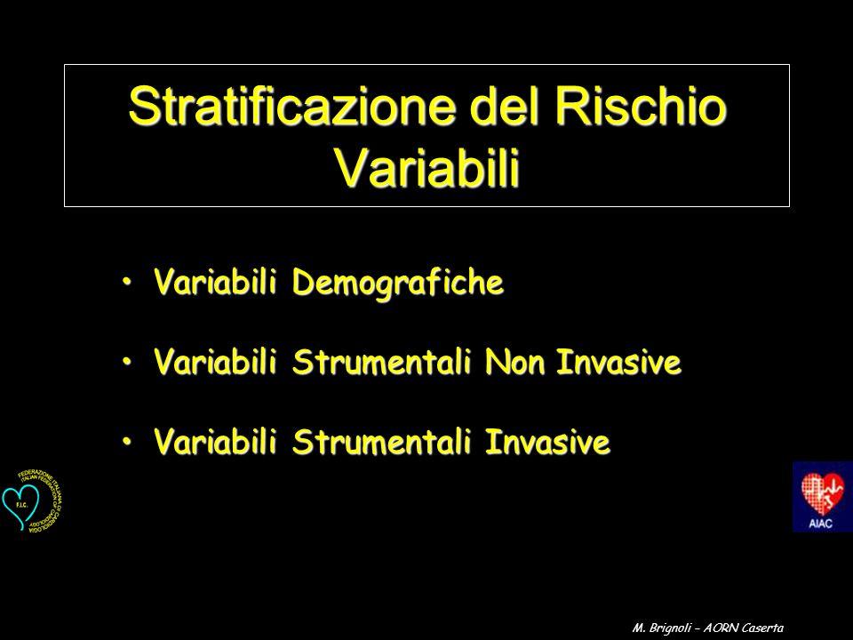 Stratificazione del Rischio Variabili