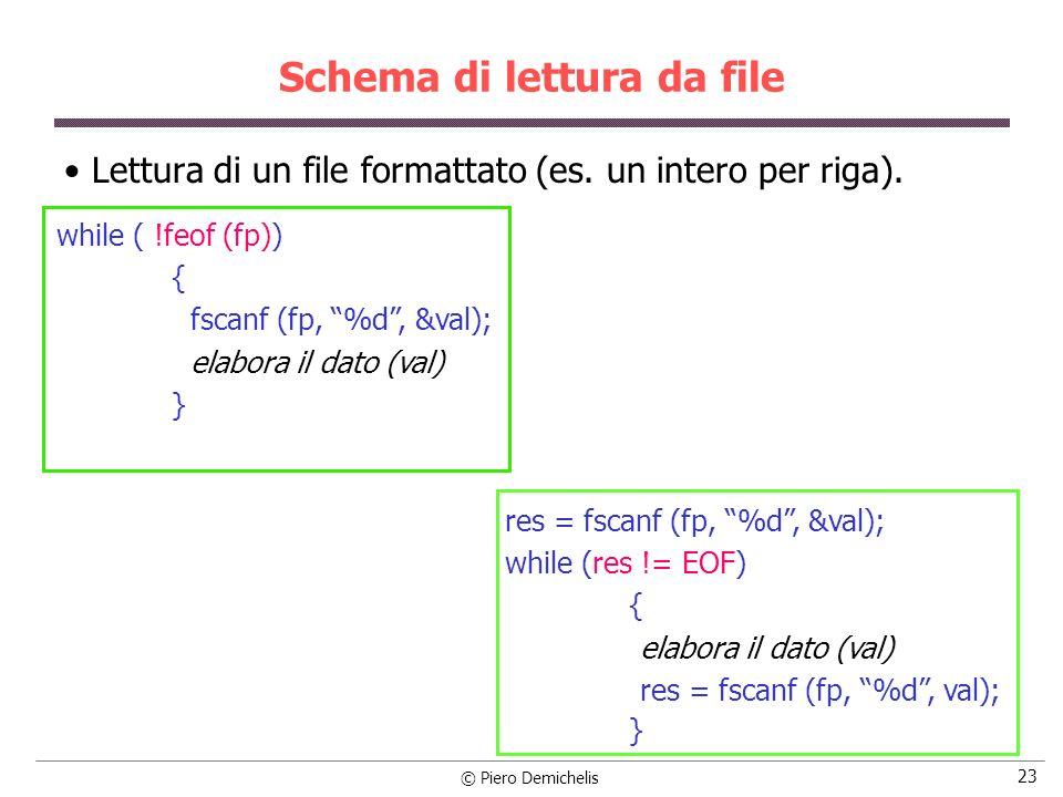 Schema di lettura da file