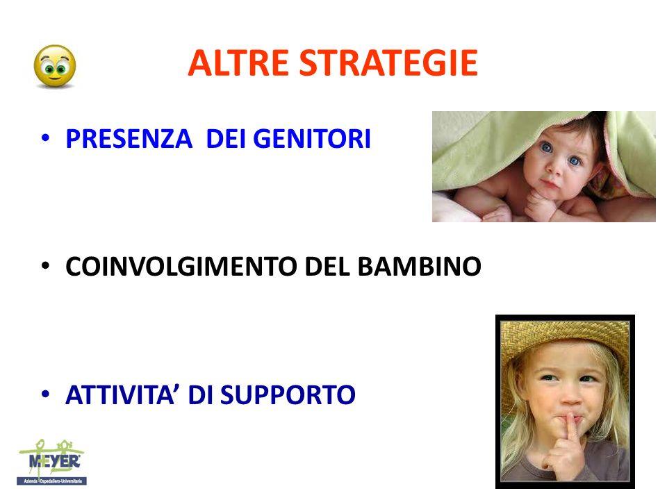 ALTRE STRATEGIE PRESENZA DEI GENITORI COINVOLGIMENTO DEL BAMBINO