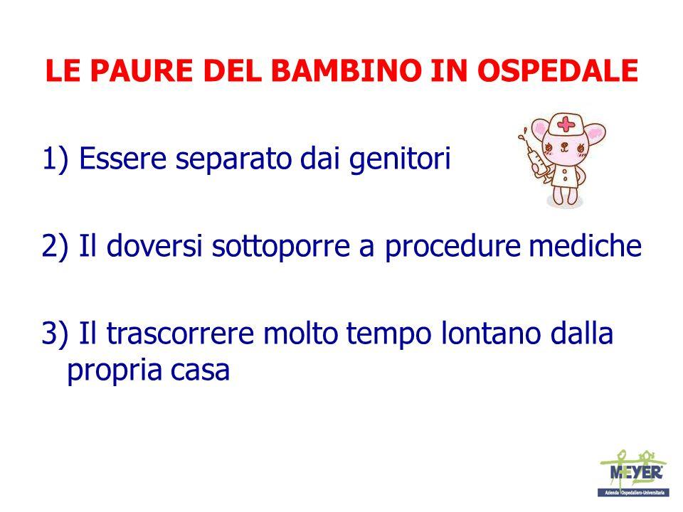 LE PAURE DEL BAMBINO IN OSPEDALE
