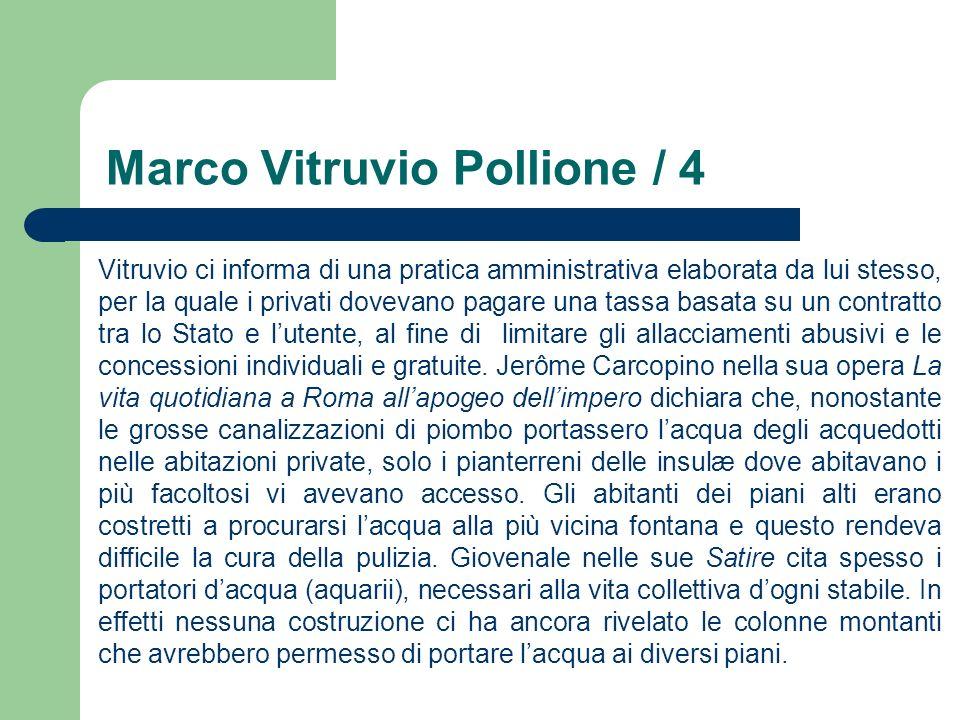 Marco Vitruvio Pollione / 4