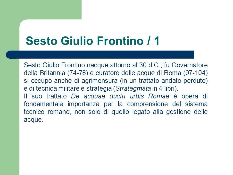 Sesto Giulio Frontino / 1