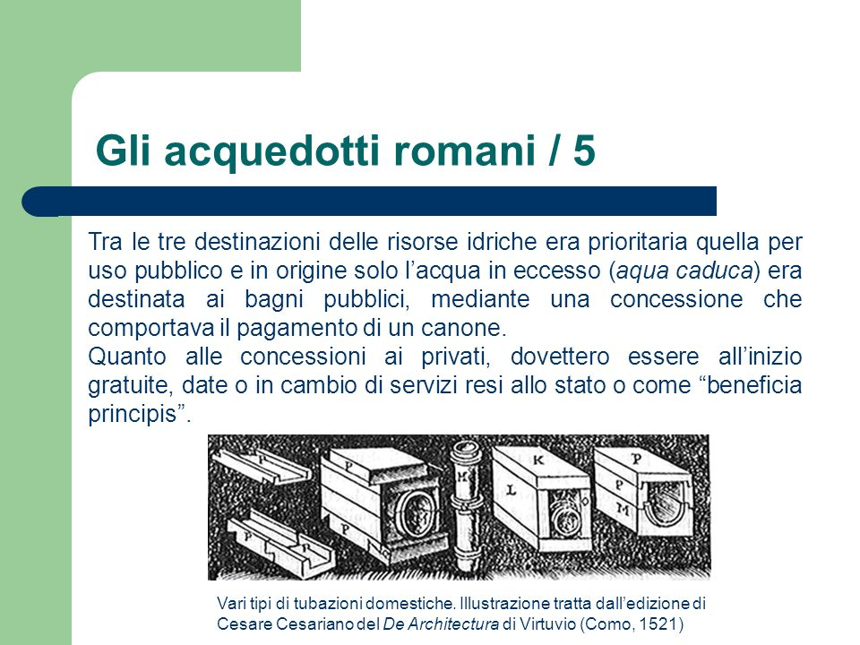 Gli acquedotti romani / 5