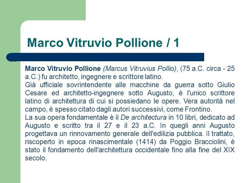 Marco Vitruvio Pollione / 1