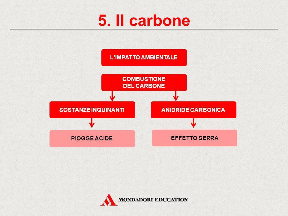 5. Il carbone L'IMPATTO AMBIENTALE COMBUSTIONE DEL CARBONE