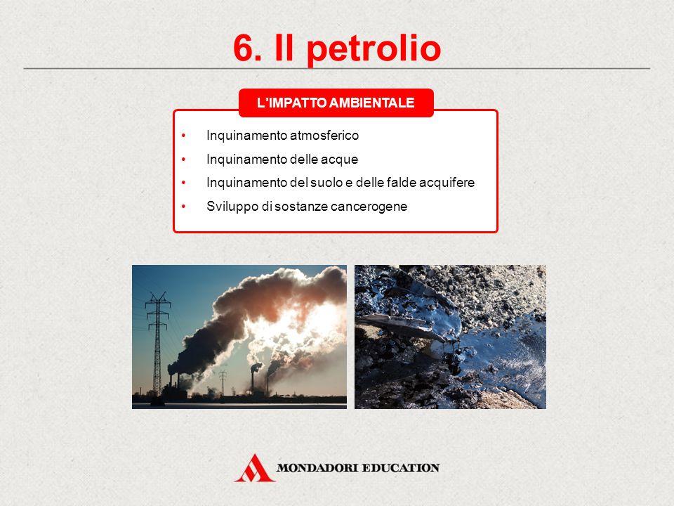 6. Il petrolio L'IMPATTO AMBIENTALE Inquinamento atmosferico