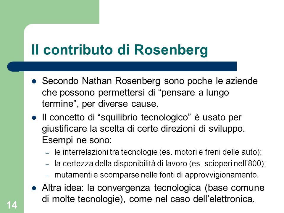 Il contributo di Rosenberg