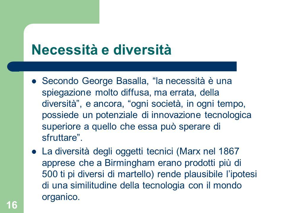 Necessità e diversità