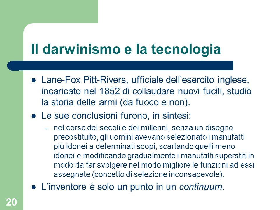 Il darwinismo e la tecnologia