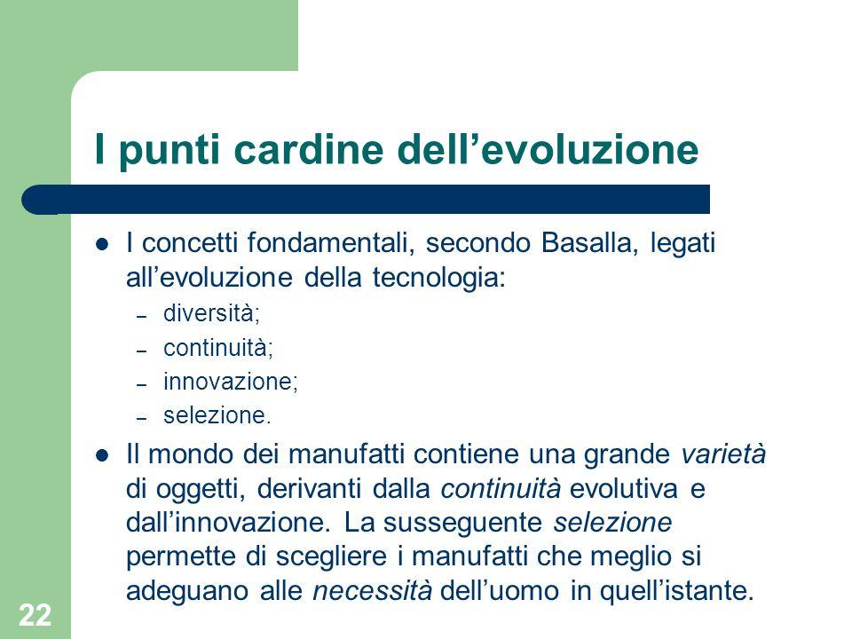 I punti cardine dell'evoluzione