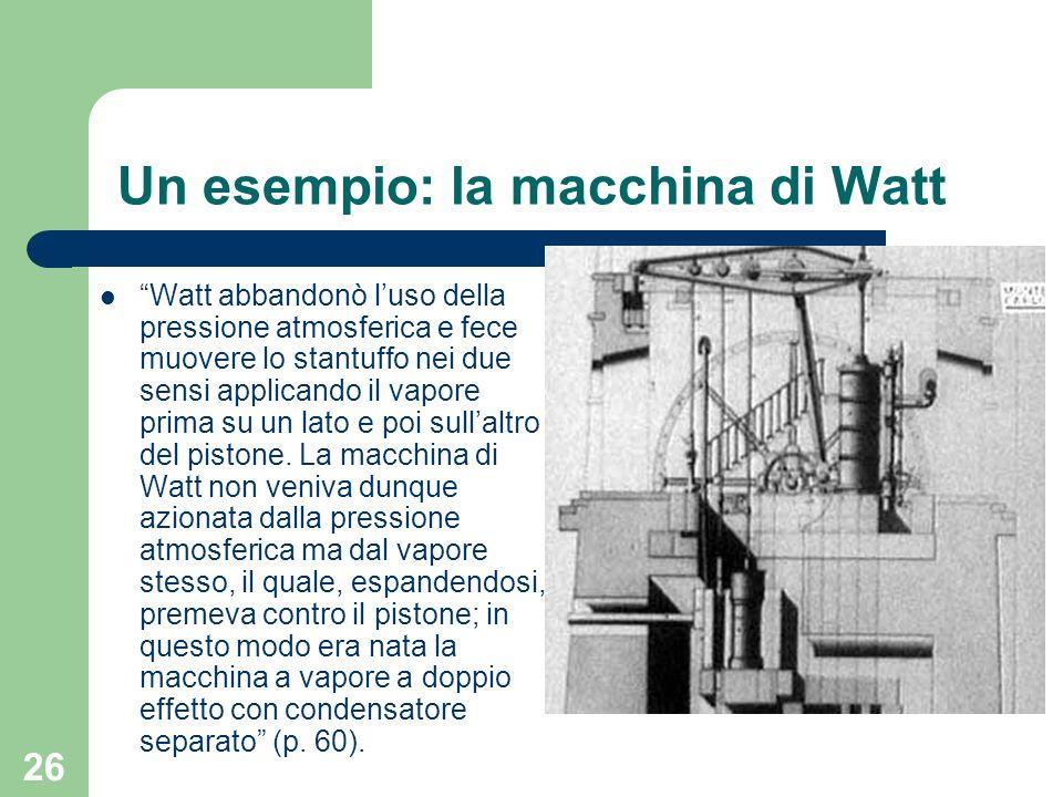 Un esempio: la macchina di Watt