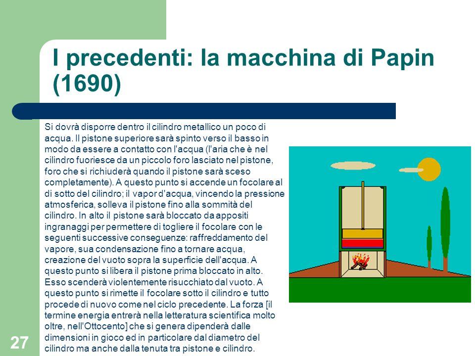 I precedenti: la macchina di Papin (1690)
