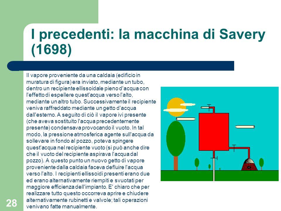 I precedenti: la macchina di Savery (1698)