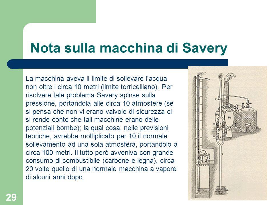 Nota sulla macchina di Savery