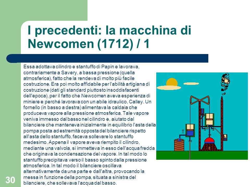 I precedenti: la macchina di Newcomen (1712) / 1