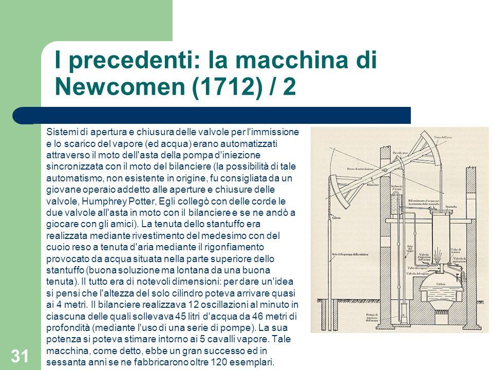 I precedenti: la macchina di Newcomen (1712) / 2