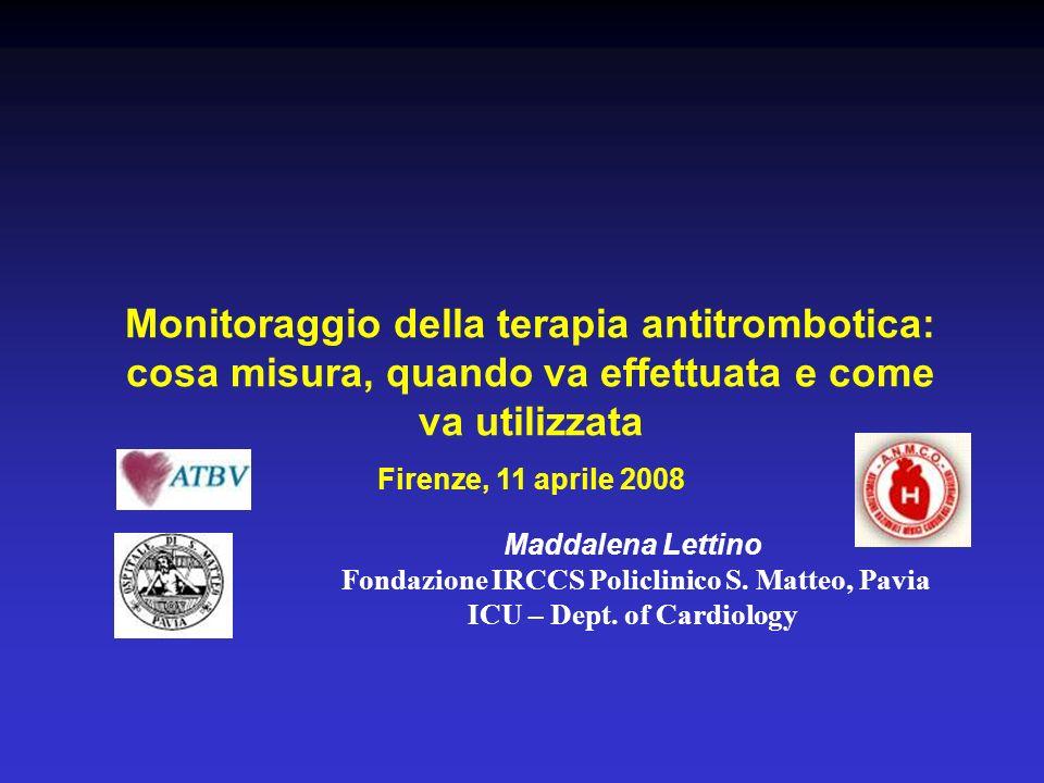 Monitoraggio della terapia antitrombotica: cosa misura, quando va effettuata e come va utilizzata