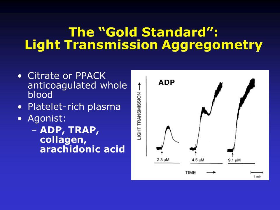 The Gold Standard : Light Transmission Aggregometry