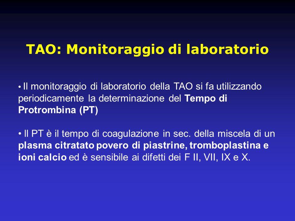 TAO: Monitoraggio di laboratorio
