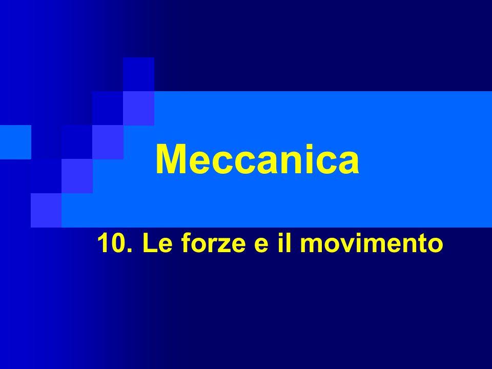 Meccanica 10. Le forze e il movimento