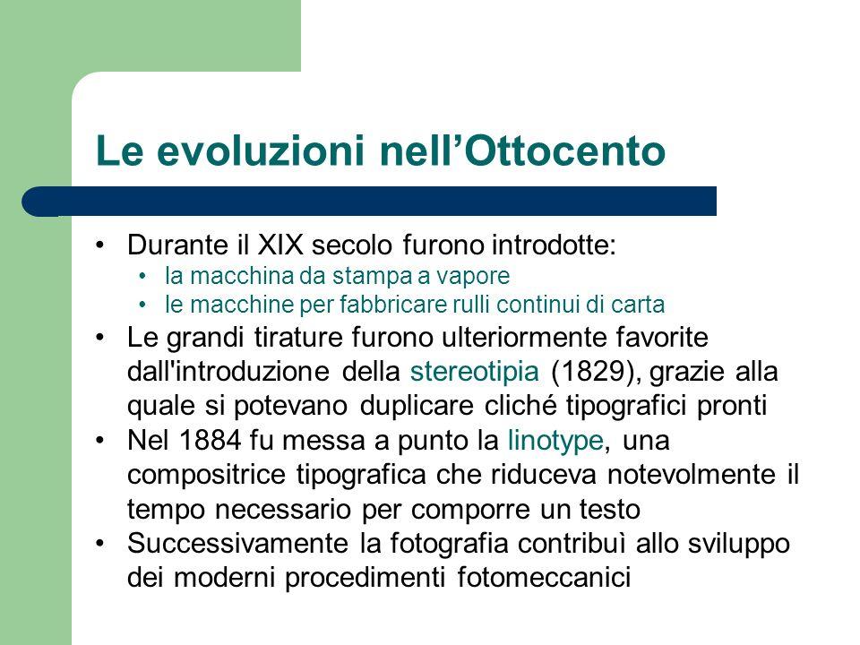 Le evoluzioni nell'Ottocento