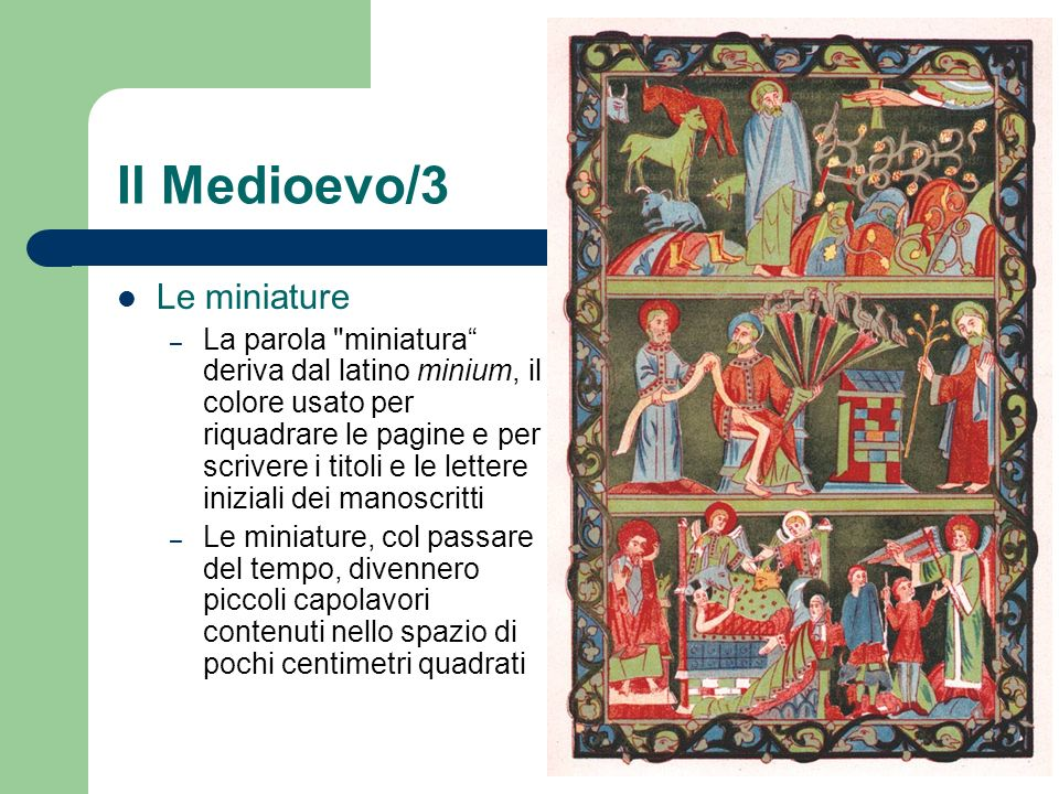 Il Medioevo/3 Le miniature