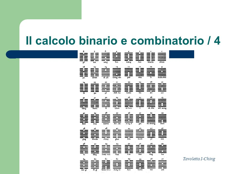 Il calcolo binario e combinatorio / 4
