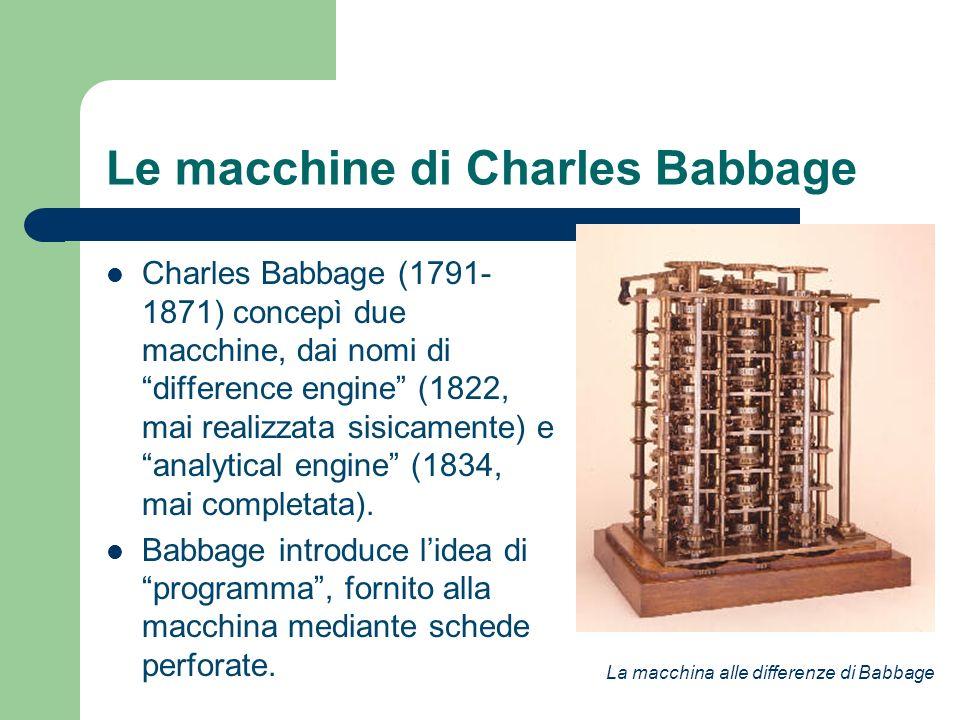 Le macchine di Charles Babbage