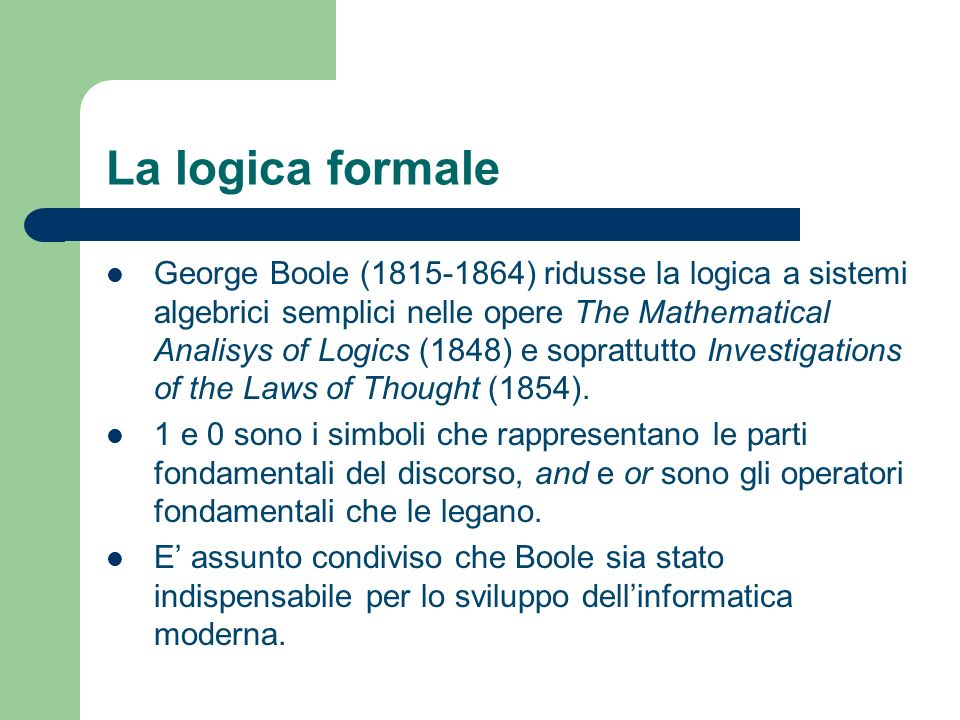 La logica formale