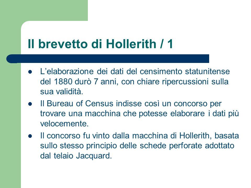 Il brevetto di Hollerith / 1