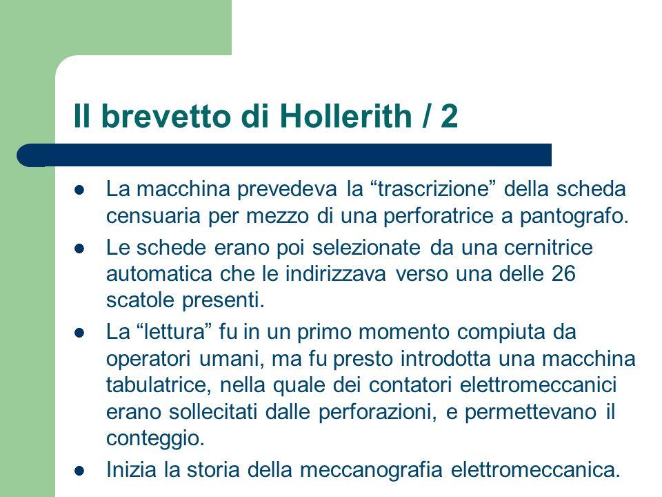 Il brevetto di Hollerith / 2