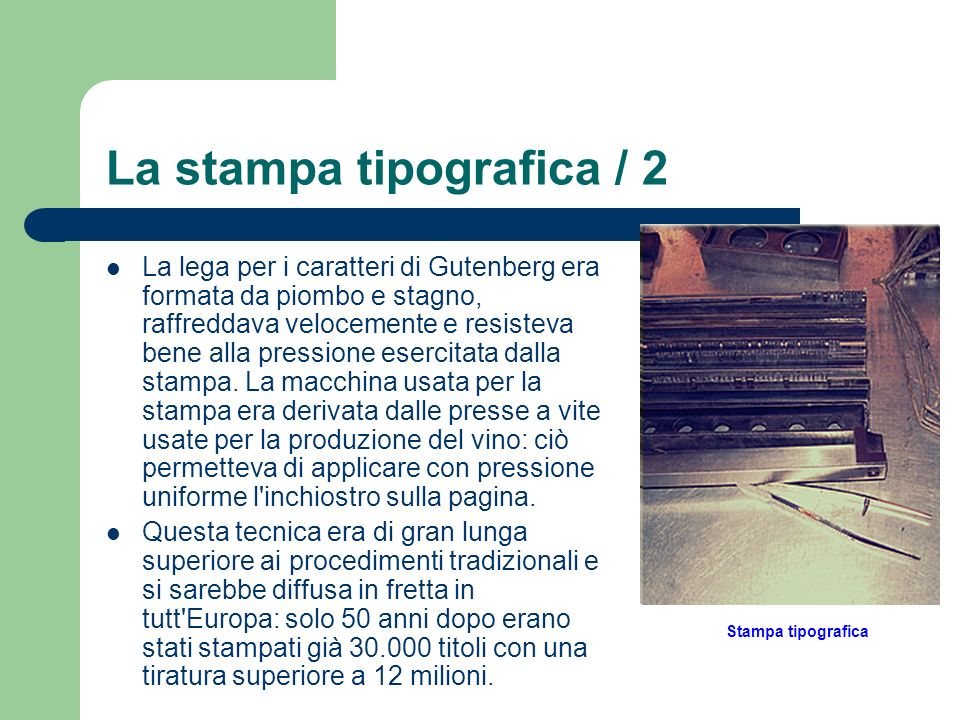 La stampa tipografica / 2