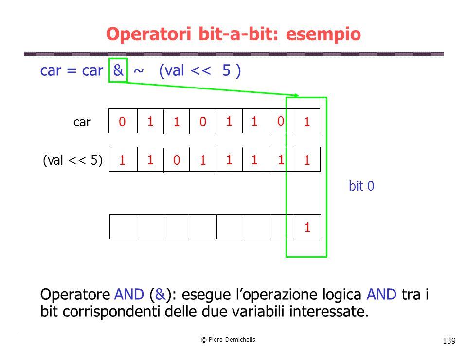 Operatori bit-a-bit: esempio