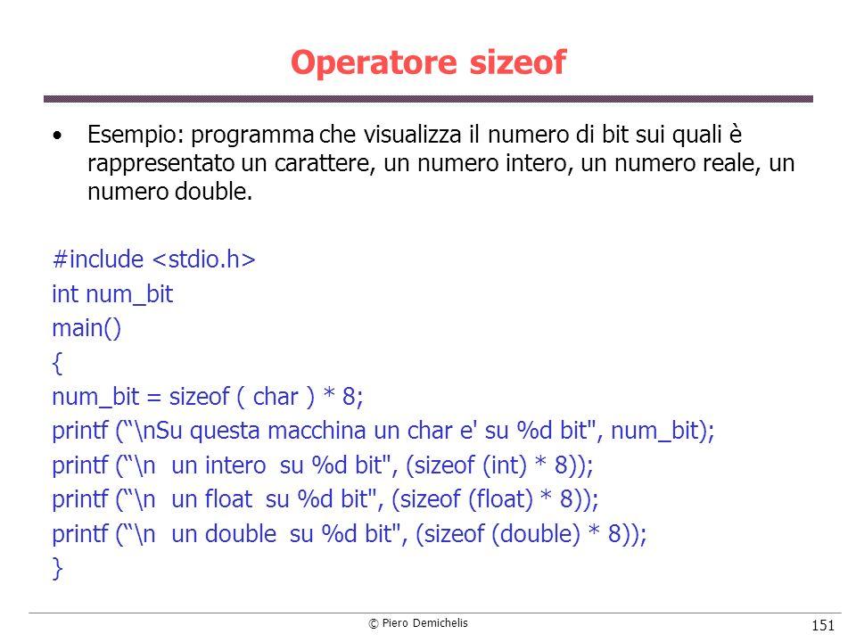 Operatore sizeof