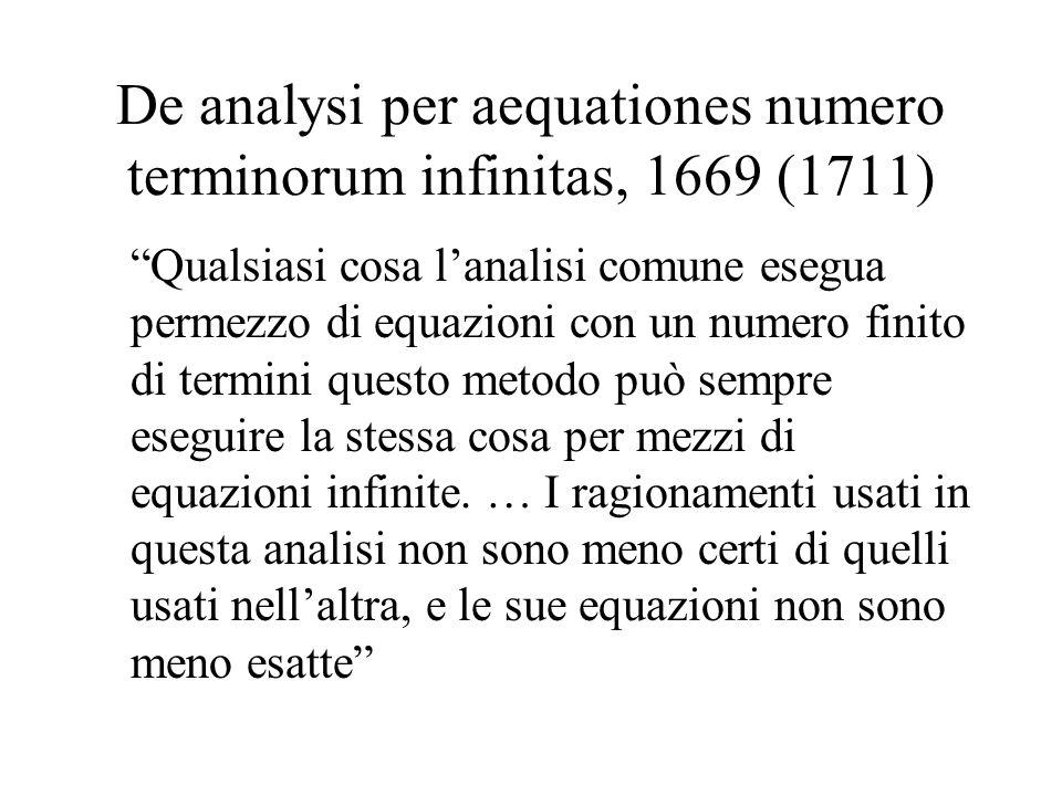 De analysi per aequationes numero terminorum infinitas, 1669 (1711)