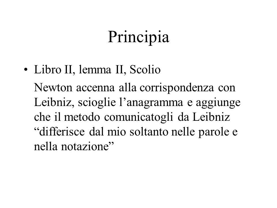 Principia Libro II, lemma II, Scolio