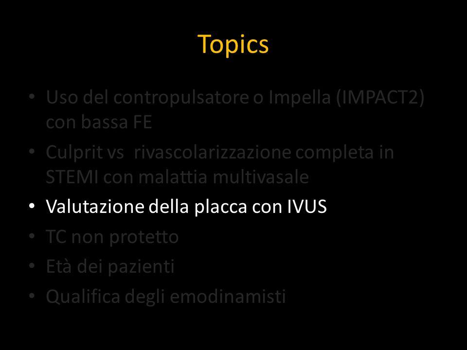 Topics Uso del contropulsatore o Impella (IMPACT2) con bassa FE