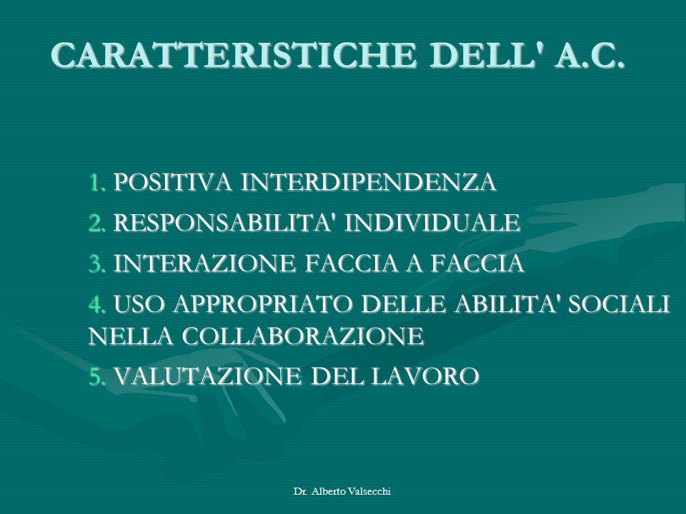 CARATTERISTICHE DELL A.C.