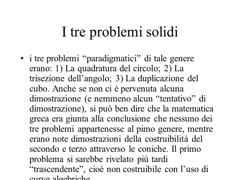 I tre problemi solidi