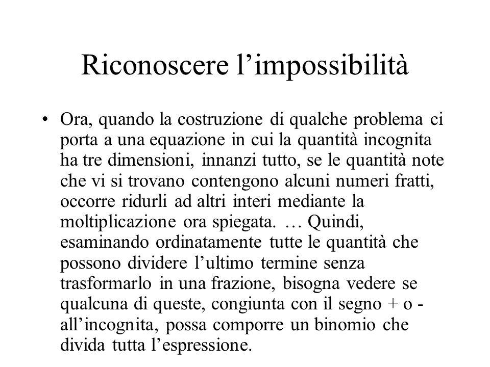 Riconoscere l'impossibilità